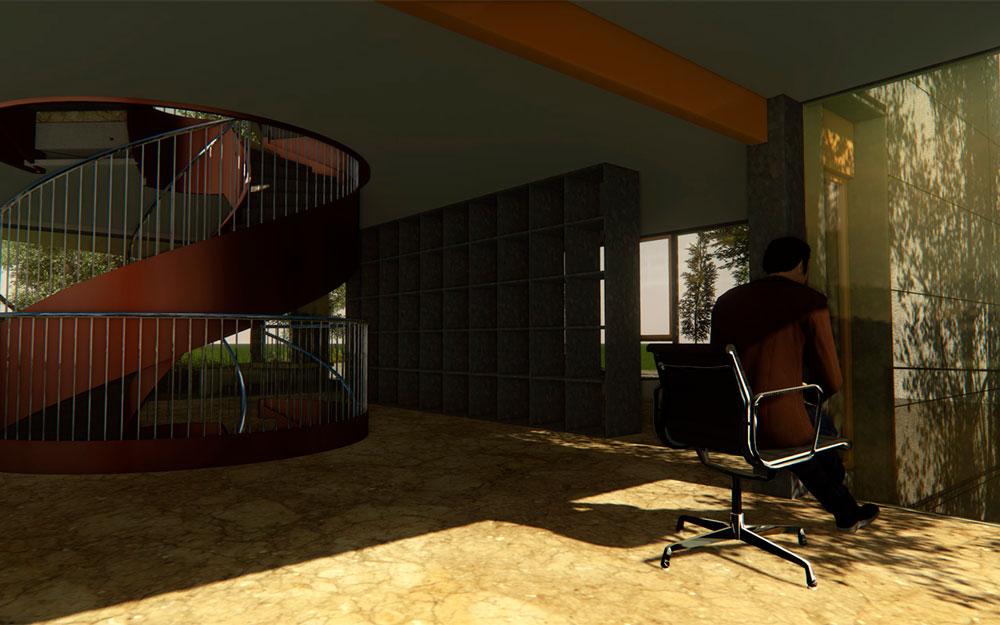 دانلود پروژه طراحی دفتر کار مدرن (2)