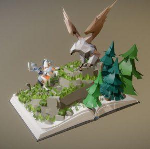 دانلود پروژه طراحی کتاب سه بعدی فانتزی