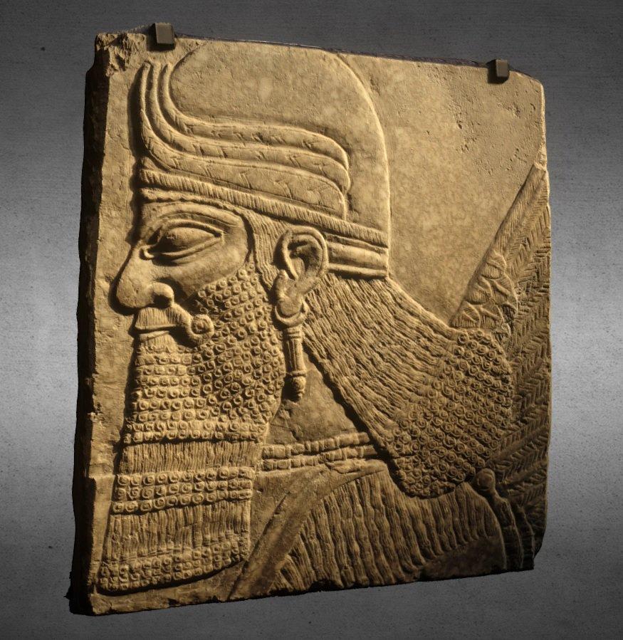 دانلود پروژه طراحی کتیبه ایران باستان (مرد بالدار آشوری)