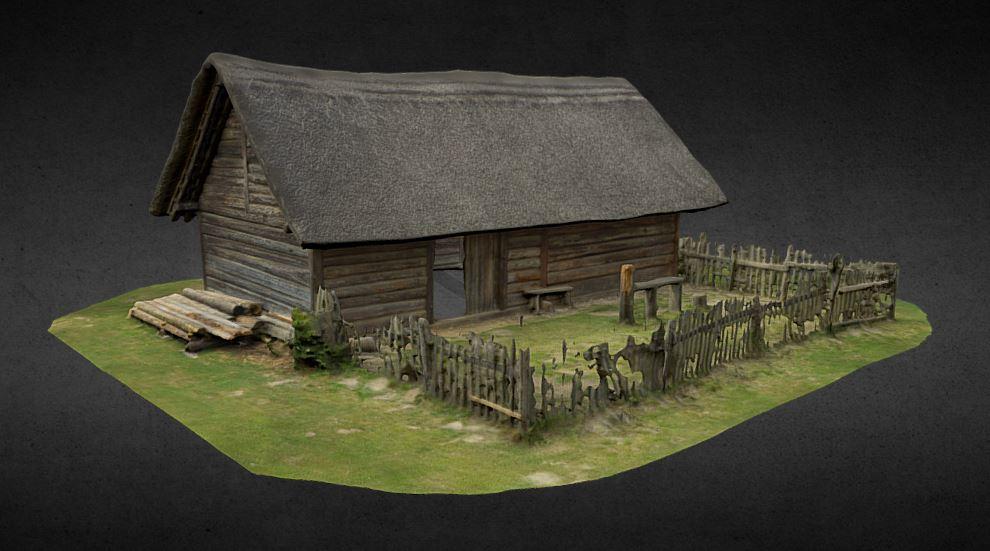 دانلود پروژه طراحی کلبه چوبی روستایی