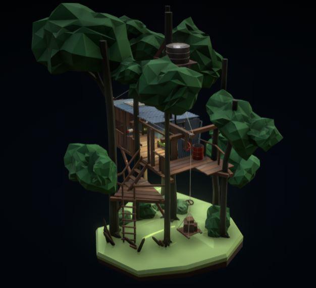 دانلود پروژه طراحی خانه درختی