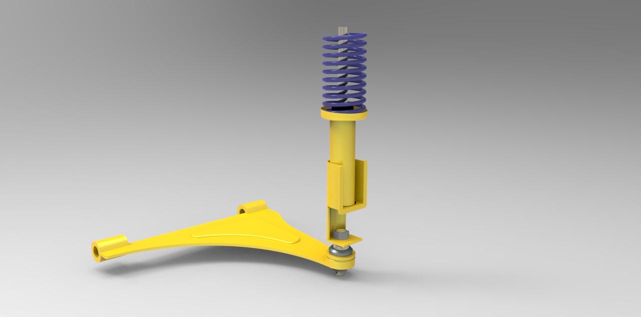 دانلود پروژه طراحی سیستم تعلیق مک فرسون macpherson suspension
