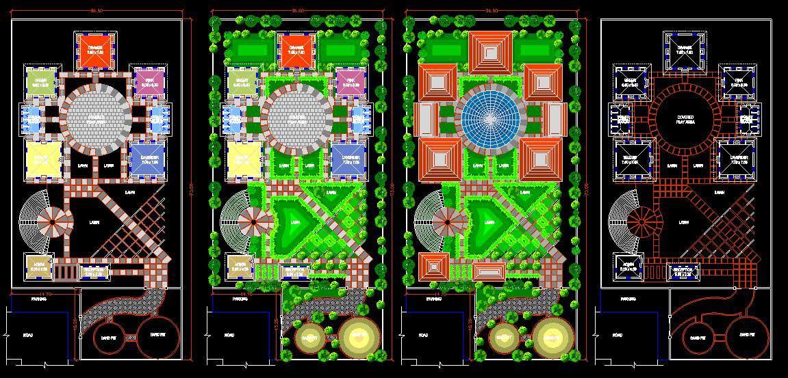 دانلود پروژه طراحی نقشه و پلان کامل مهدکودک مدرن
