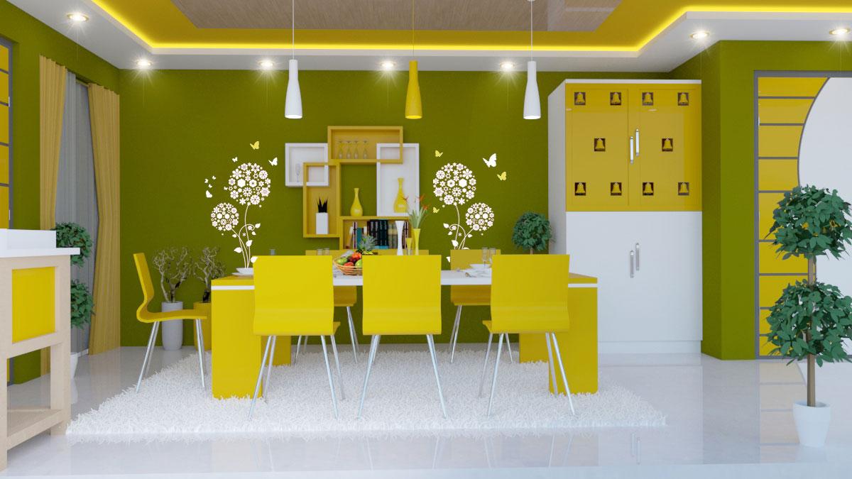 دانلود پروژه طراحی اتاق غذاخوری مدرن