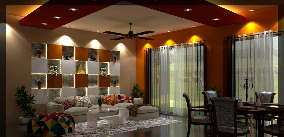 دانلود پروژه طراحی اتاق نشیمن مدرن