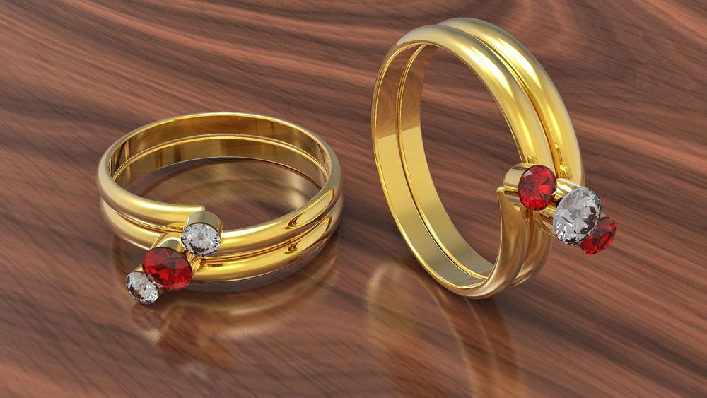 دانلود پروژه طراحی انگشتر الماس