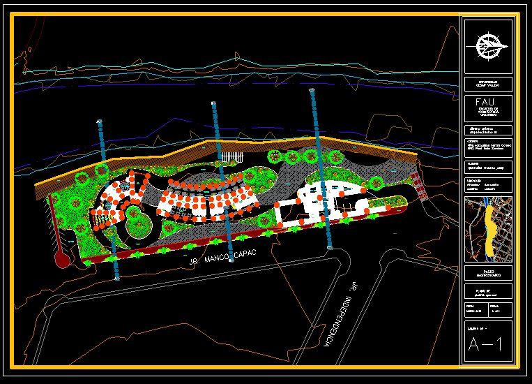 دانلود پروژه طراحی نقشه و پلان باغ رستوران مدرن