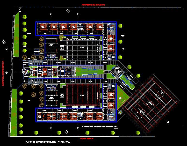 دانلود پروژه طراحی نقشه و پلان مدرسه مدرن