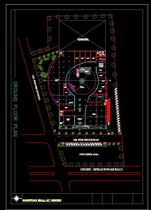 دانلود پروژه طراحی نقشه و پلان مرکز خرید مدرن (مجتمع تجاری - پاساژ - مال)