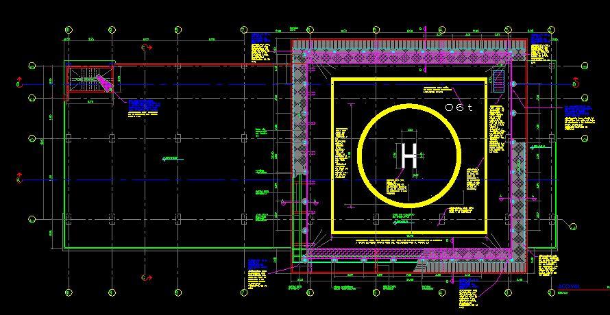 دانلود پروژه طراحی نقشه و پلان هلی پورت (بالگردگاه - فرودگاه هلی کوپتر)