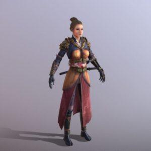 دانلود پروژه طراحی کاراکتر زن جنگجو