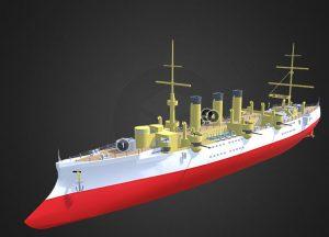 دانلود پروژه طراحی کشتی جنگی (ناو) کلاسیک