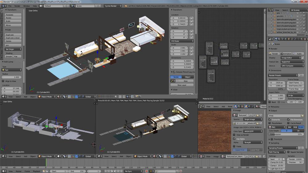 دانلود پروژه طراحی اتاق خواب لوکس + استخر (2)