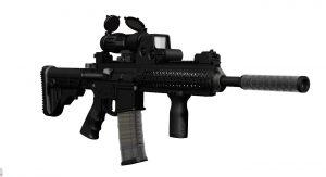 دانلود پروژه طراحی اسلحه دوربین دار MPT 55