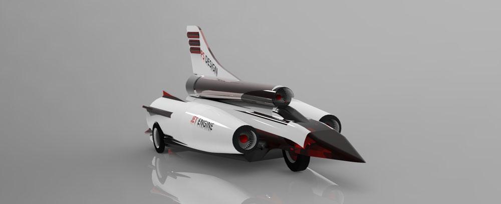 دانلود پروژه طراحی خودرو مافوق صوت (سوپر سونیک) (1)