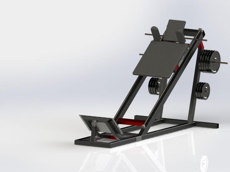 دانلود پروژه طراحی دستگاه اسکات بدنسازی