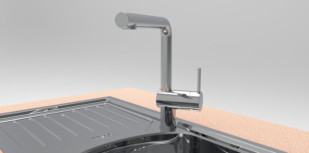 دانلود پروژه طراحی شیر سینک ظرفشویی مدرن