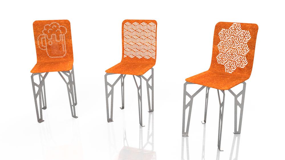 دانلود پروژه طراحی صندلی اپن پایه بلند
