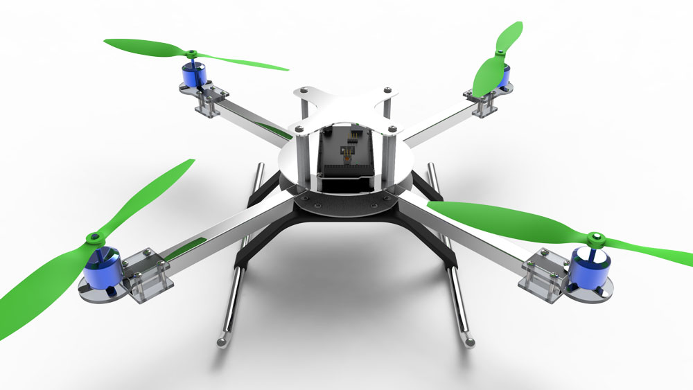 دانلود پروژه طراحی فریم و بدنه کوادکوپتر (2)