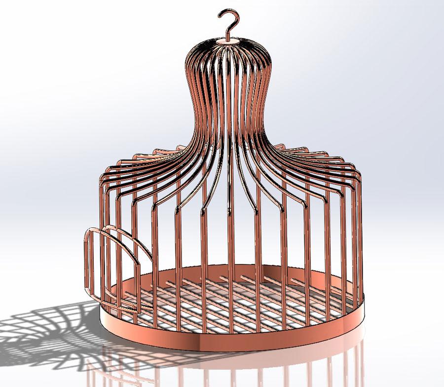 دانلود پروژه طراحی قفس پرنده