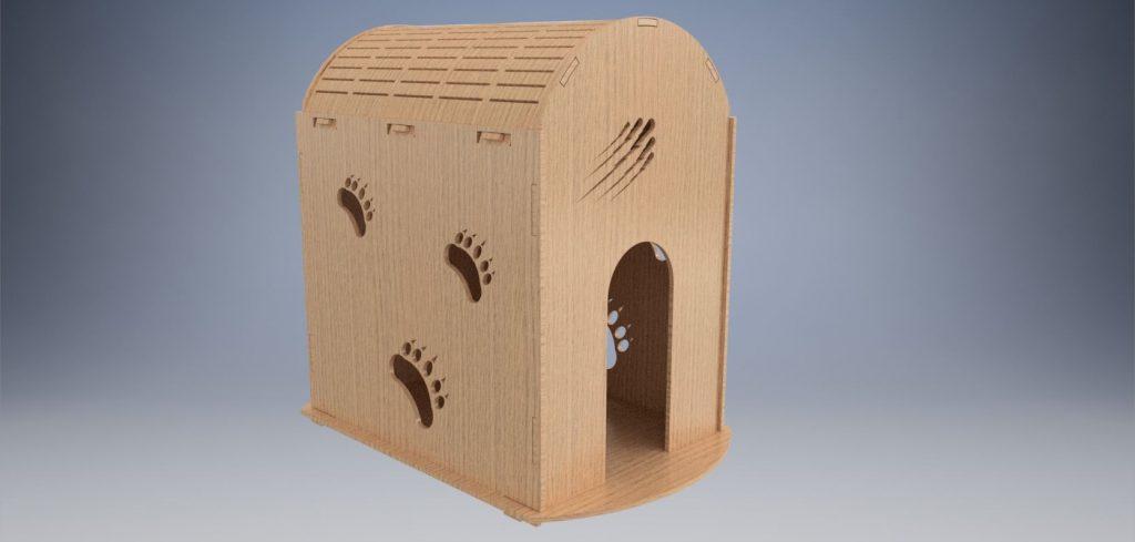 دانلود پروژه طراحی لانه خانه سگ و گربه