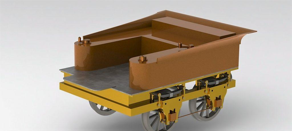 دانلود پروژه طراحی لوکوموتیو بخار کلاسیک + واگن باری و مسافری (3)