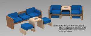 دانلود پروژه طراحی مبلمان دفتر کار مدرن