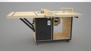 دانلود پروژه طراحی میز برش نجاری