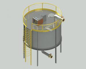 دانلود پروژه طراحی میکسر صنعتی مخزنی