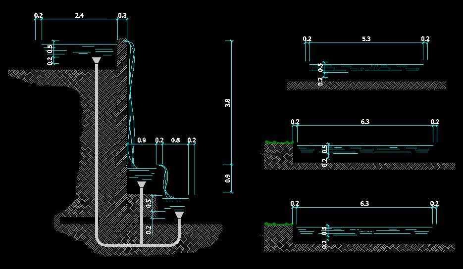 دانلود پروژه طراحی نقشه و پلان آبشار مصنوعی