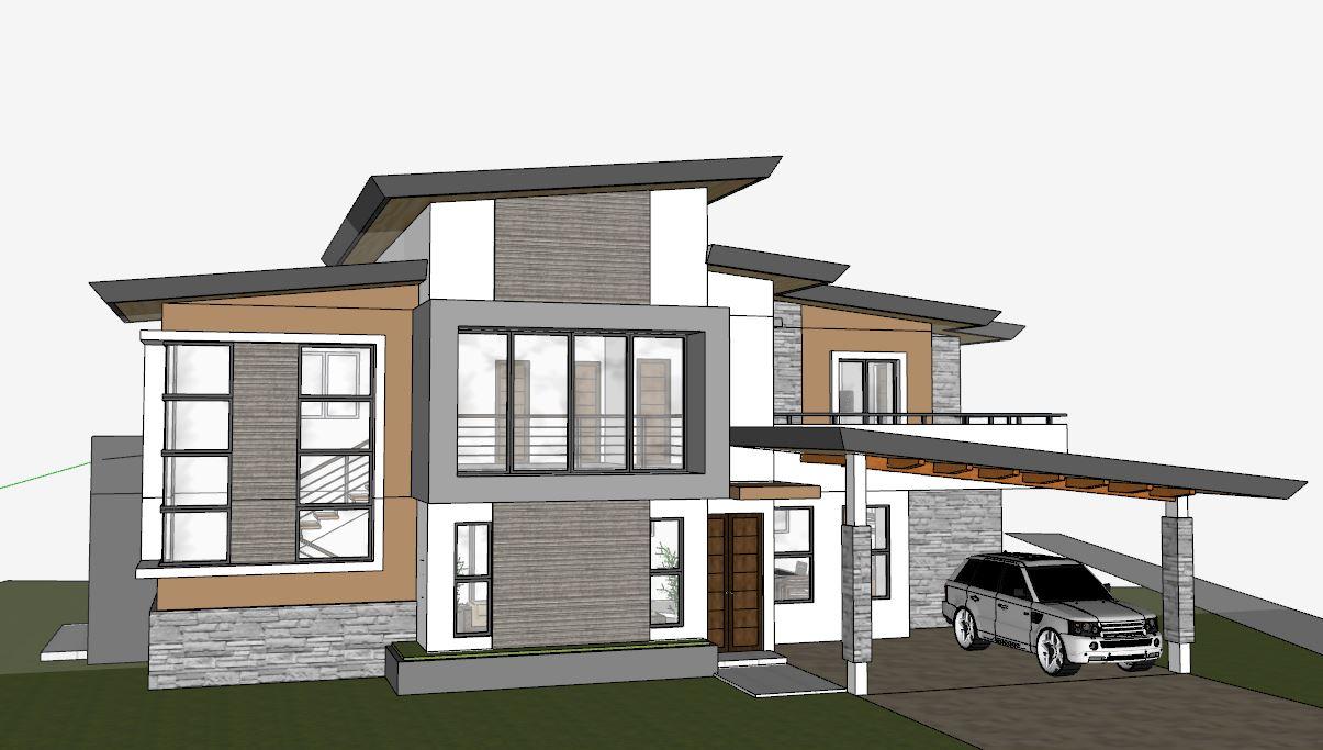 دانلود پروژه طراحی نقشه و پلان خانه ییلاقی (3)