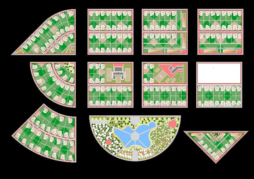 دانلود پروژه طراحی نقشه و پلان شهر مدرن 3
