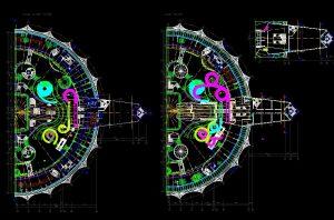 دانلود پروژه طراحی نقشه و پلان پارک آبی