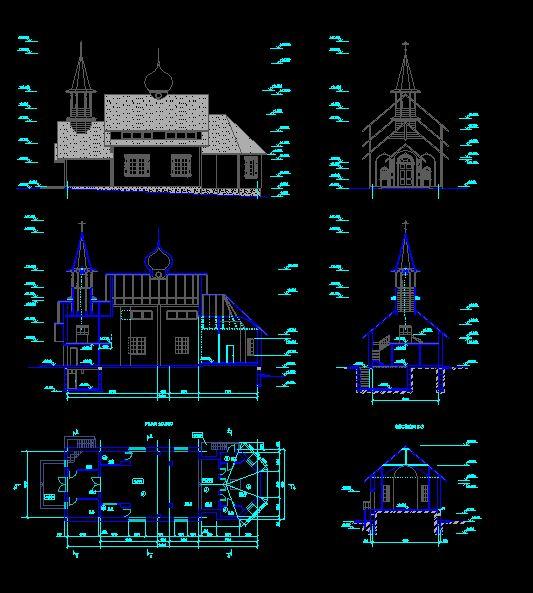 دانلود پروژه طراحی نقشه و پلان کلیسای ارتدکس