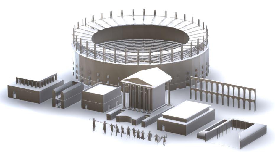 دانلود پروژه طراحی نماهای رومی