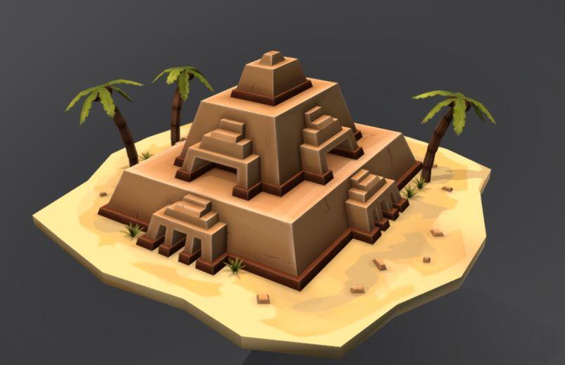 دانلود پروژه طراحی هرم باستانی