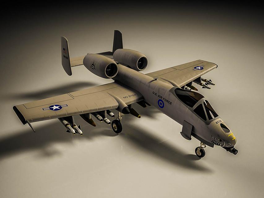 دانلود پروژه طراحی هواپیمای جنگنده ای ۱۰ تاندربولت 2 (1)