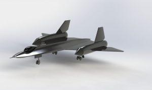 دانلود پروژه طراحی هواپیمای جنگنده SR-71