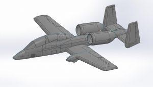 دانلود پروژه طراحی هواپیمای نظامی A 10