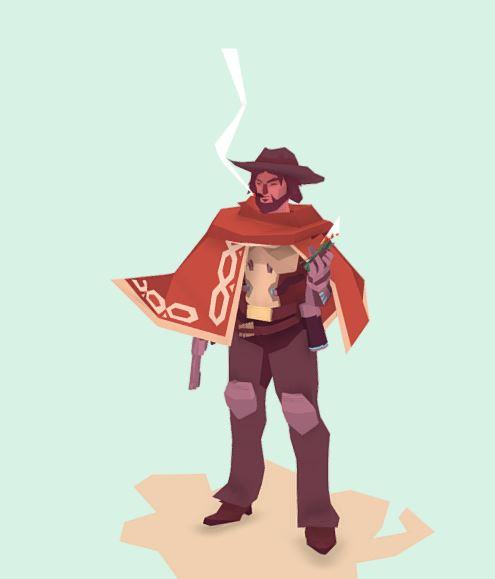 دانلود پروژه طراحی کاراکتر مرد جنگجوی کابوی لوپولی
