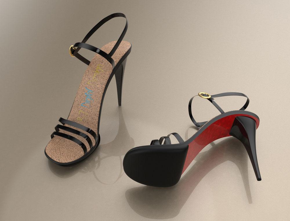 دانلود پروژه طراحی کفش زنانه پاشنه بلند (1)