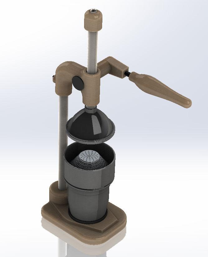 دانلود پروژه طراحی آبمیوه گیری دستی