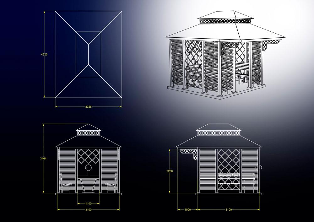 دانلود پروژه طراحی آلاچیق مدرن