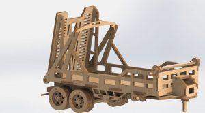 دانلود پروژه طراحی اسباب بازی چوبی تریلر حمل ماشین (1)