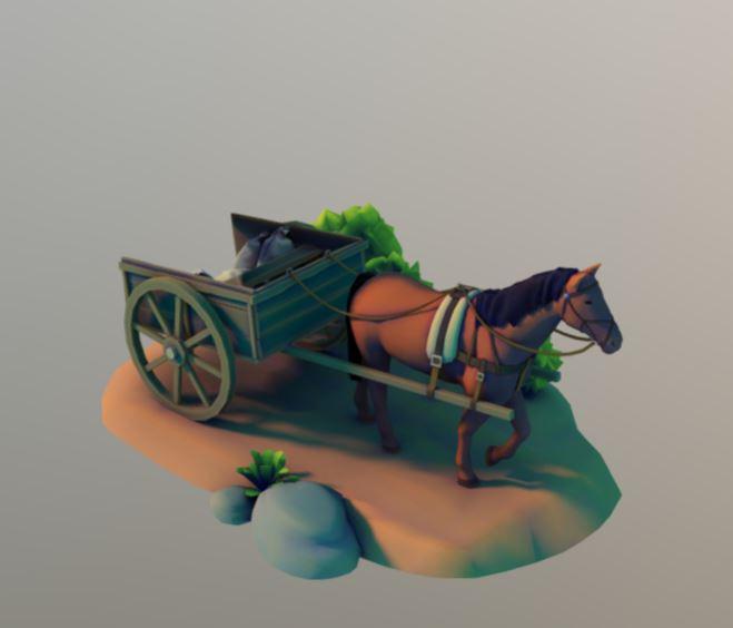 دانلود پروژه طراحی اسب و گاری
