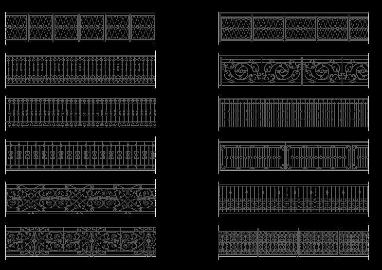 دانلود پروژه طراحی انواع نرده فلزی لوکس