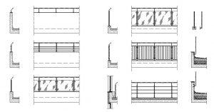 دانلود پروژه طراحی انواع نرده و حفاظ شیشه ای