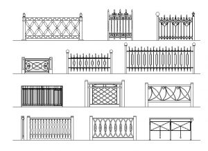 دانلود پروژه طراحی انواع نرده و حفاظ فلزی لوکس (2)