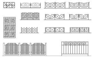 دانلود پروژه طراحی انواع نرده و حفاظ مدرن و مشبک