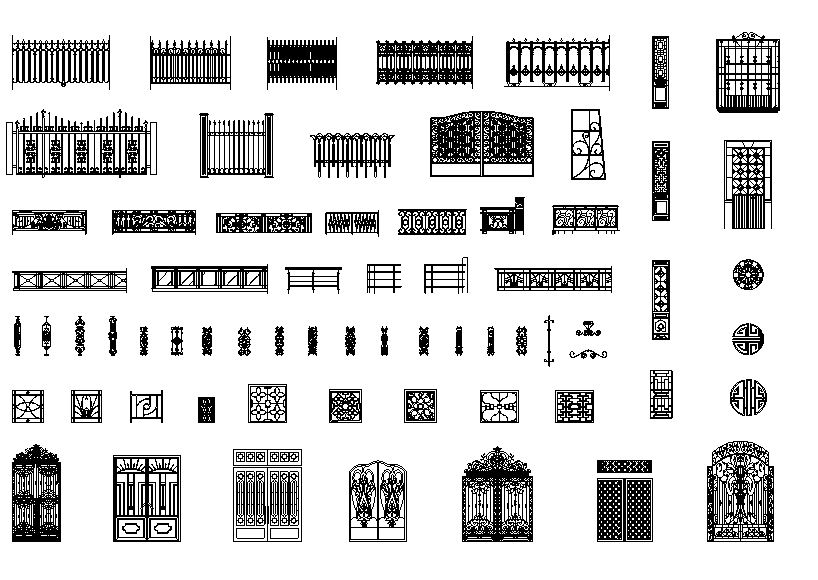 دانلود پروژه طراحی انواع گیت , فنس , درب و دروازه